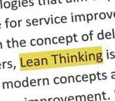 Lean Process Improvement